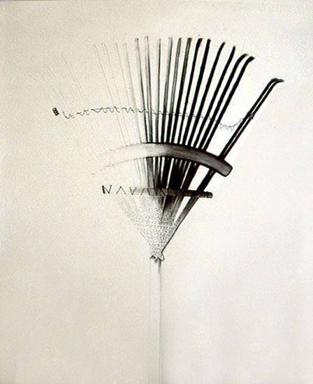 Rake, pencil, charcoal 1999 ©2011, PPCD, LLC