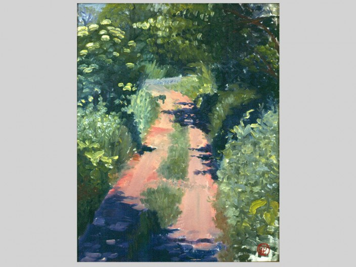 Water Reserve Path, Oil on board, 1982, 2011, PPCD, LLC
