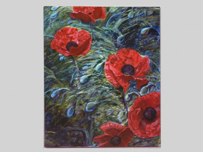 Poppies, Oil on canvas, 1983, 2011, PPCD, LLC