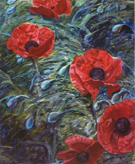 Poppies, Oil on canvas, 1983