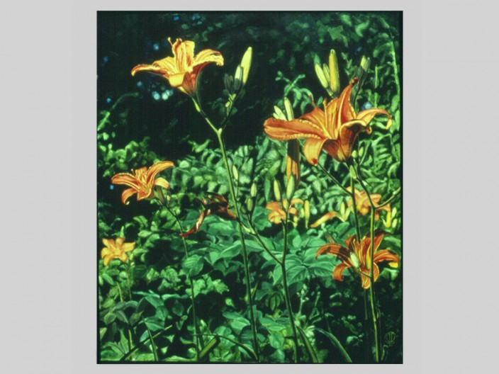 Daylillies, Oil on canvas, 1984, 2011, PPCD, LLC