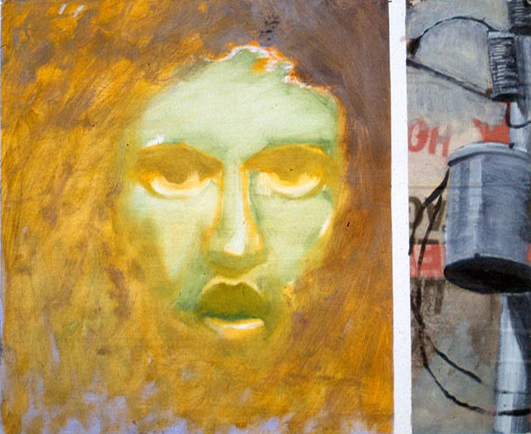 Electric-Jesus, acrylic and collage on paper 1982 ©2011, PPCD, LLC