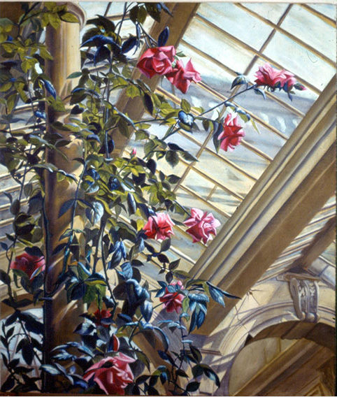 Roses in winter, Oil on canvas, 1989