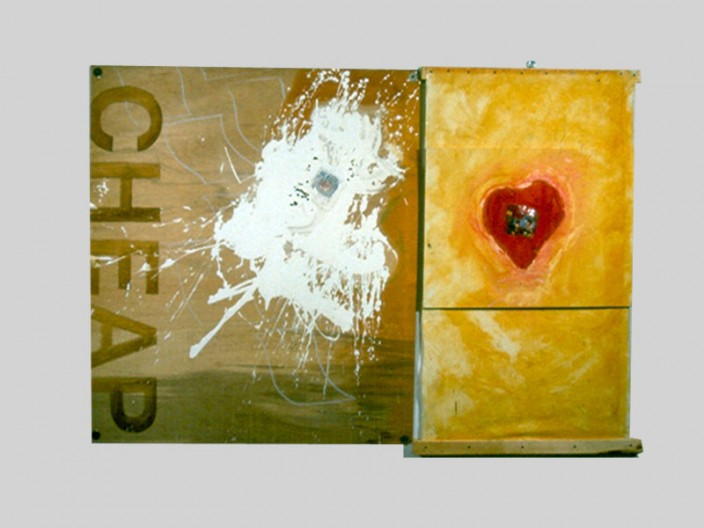 Cheap, 1995, oil-collage on canvas, 2011, PPCD, LLC