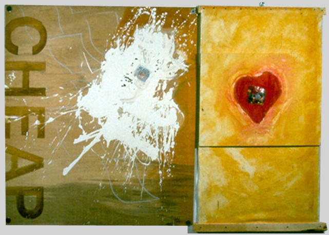 Cheap, 1995, oil-collage on canvas, ©2011, PPCD, LLC