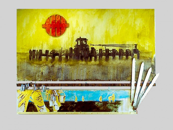The Great American Landscape, 1996, oil - assemblage on canvas, 2011, PPCD, LLC