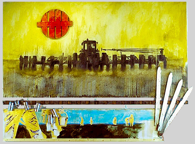 The Great American Landscape, 1996, oil - assemblage on canvas, ©2011, PPCD, LLC