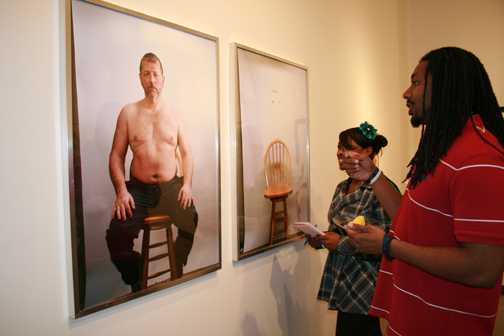 "exhibit view of ""Self-portrait"" at UNC Pembroke"
