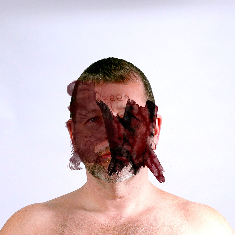 Erased (Self-portrait), digital print