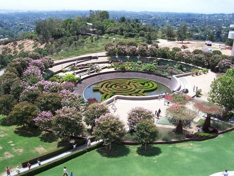 Robert Irwin's Garden at the Getty Center, LA