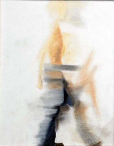 "John, walking, Pastel on paper, 12"" x 10"""