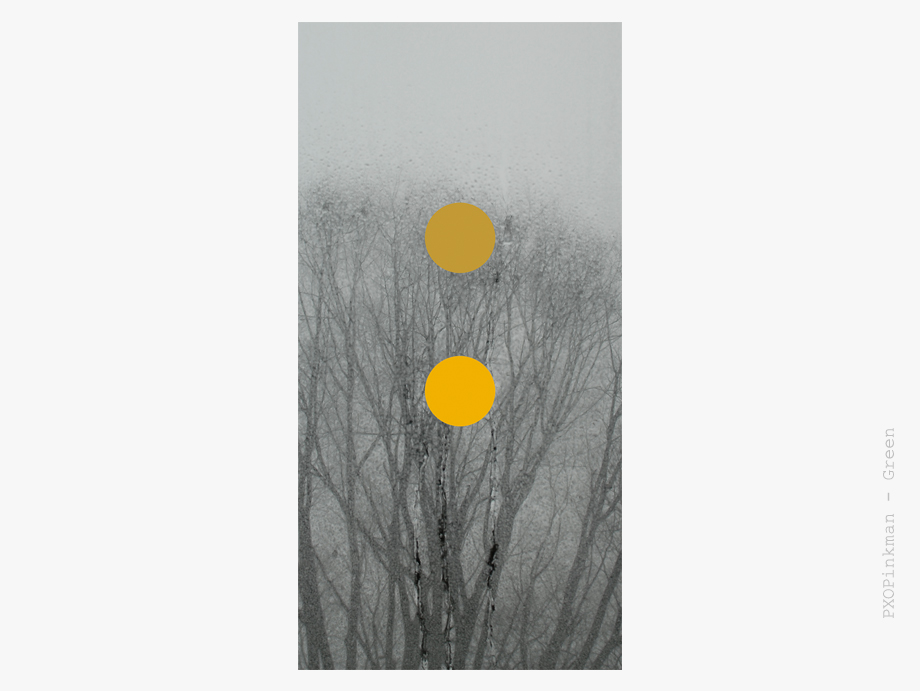 Skylight series: Yellow-gold, Digital print