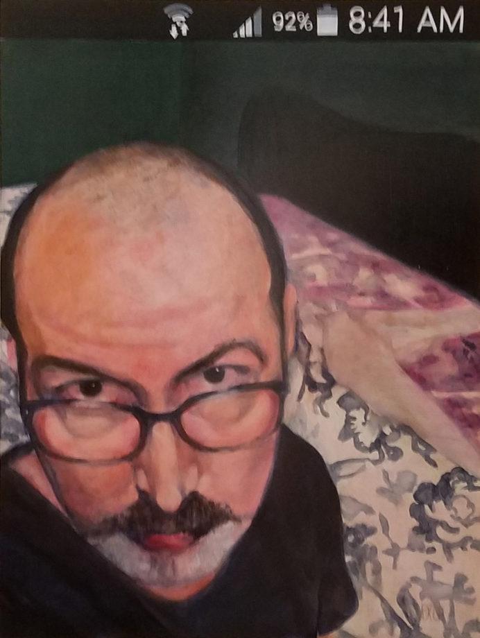 "Bob - Selfie, Oil on panel, 24"" x 18"""