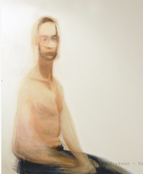 John, seated. chalk and pastel on paper