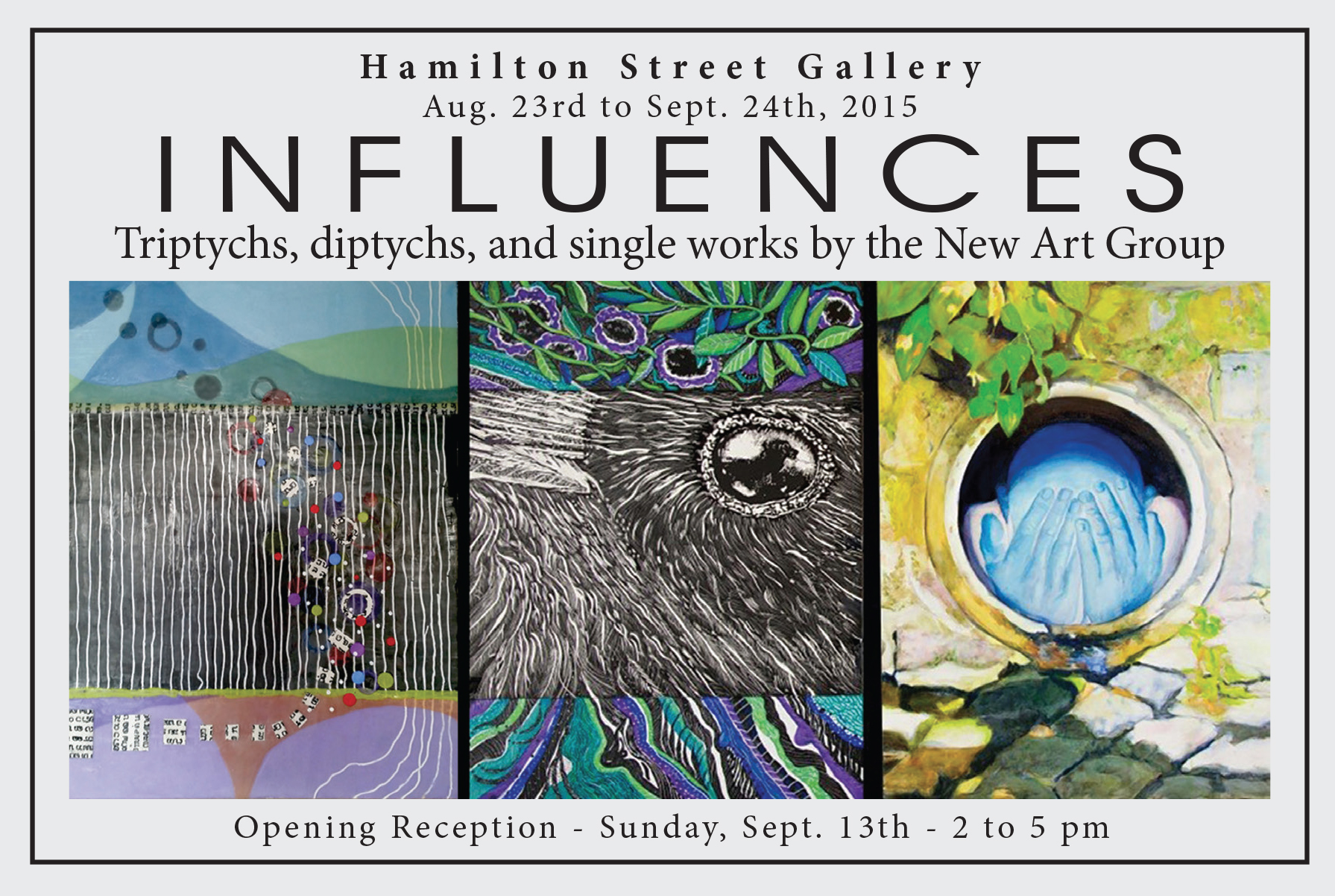 """Influences"" exhibition opens at Hamilton Street Gallery in Bound Brook"