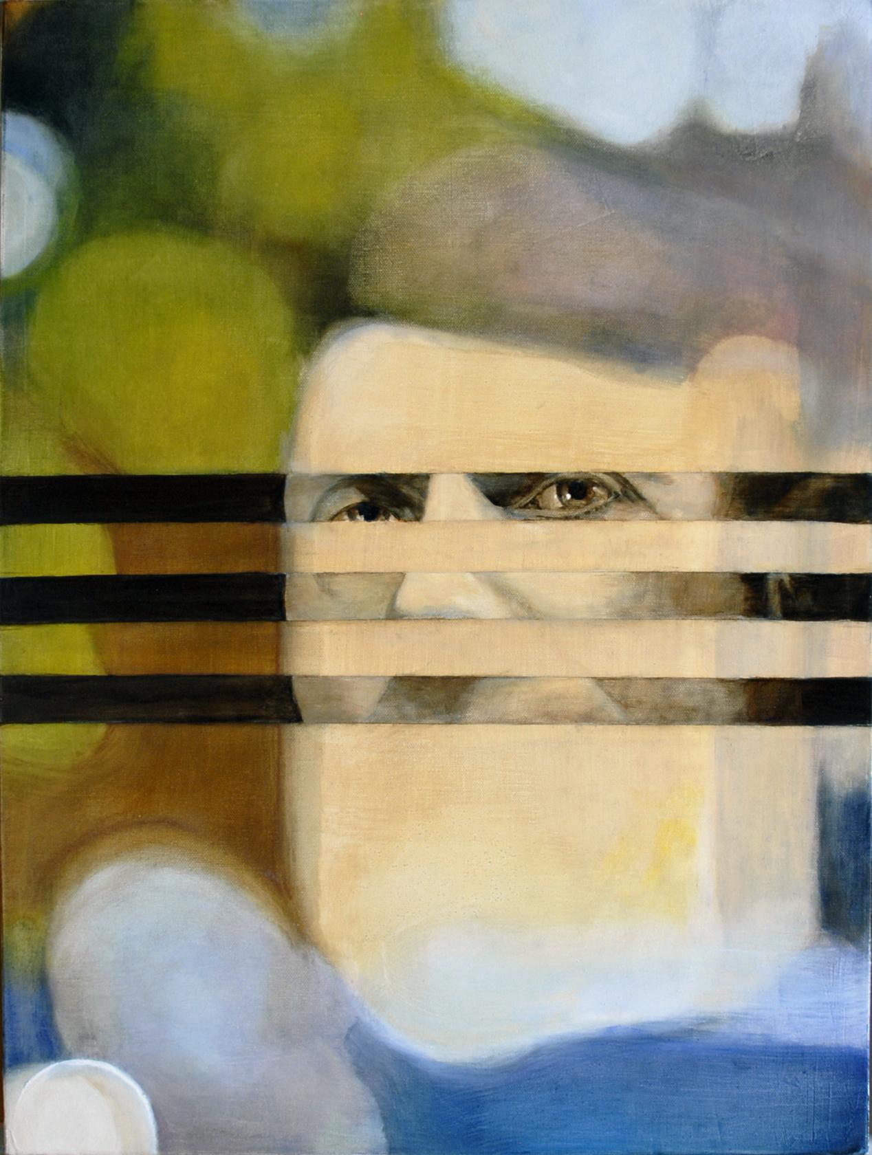 "Cocoon. Paul XO Pinkman. 2015. Oil on canvas. 24"" h x 18"" w"