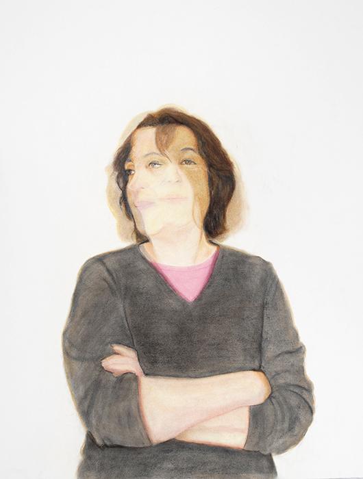 Sheryl, Pastel, chalk on paper 40x30, Copyright 2012, Paul XO Pinkman