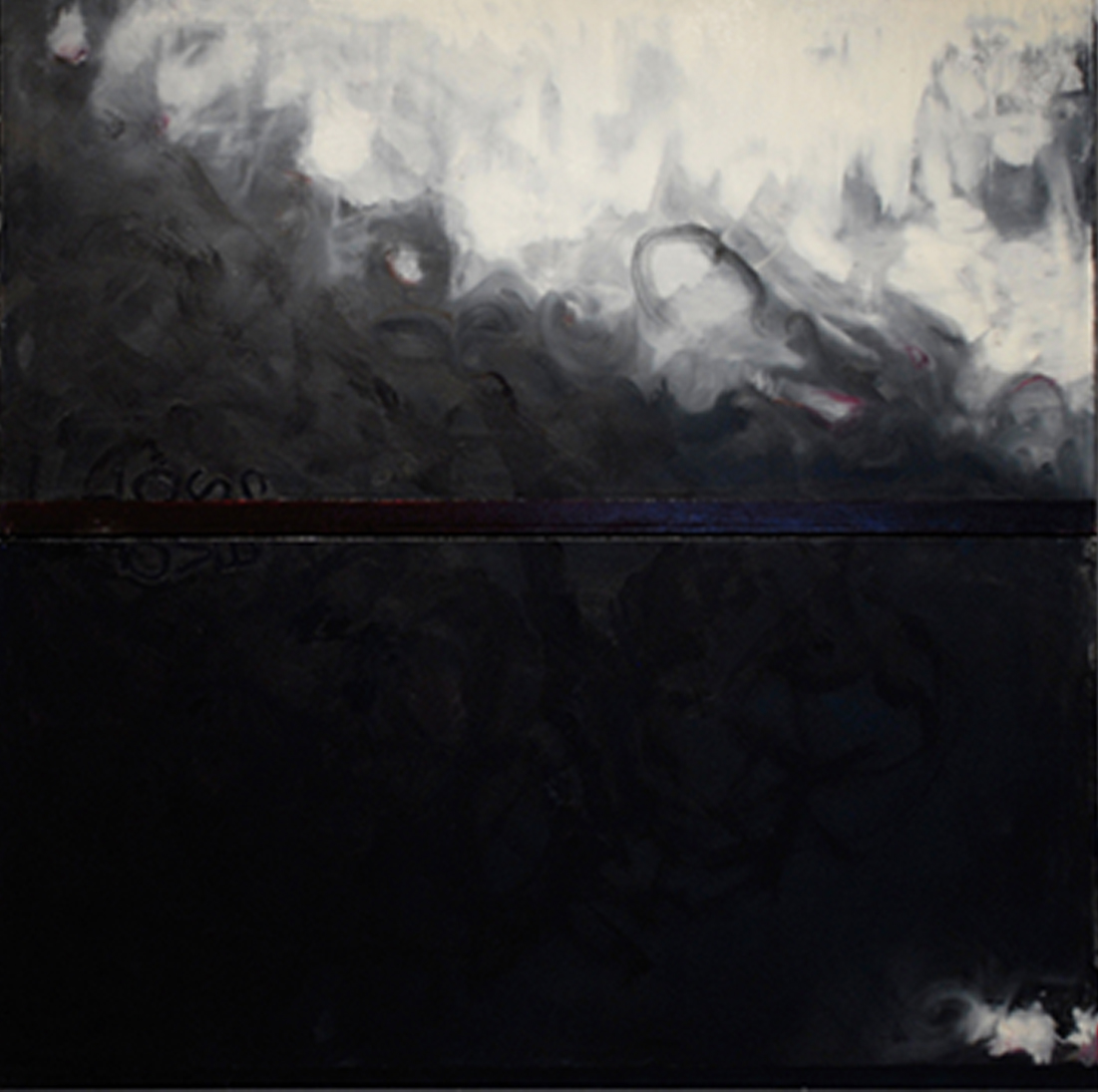 Elegy for a Lost Future, Oil on canvas, 48 x 48 diptych