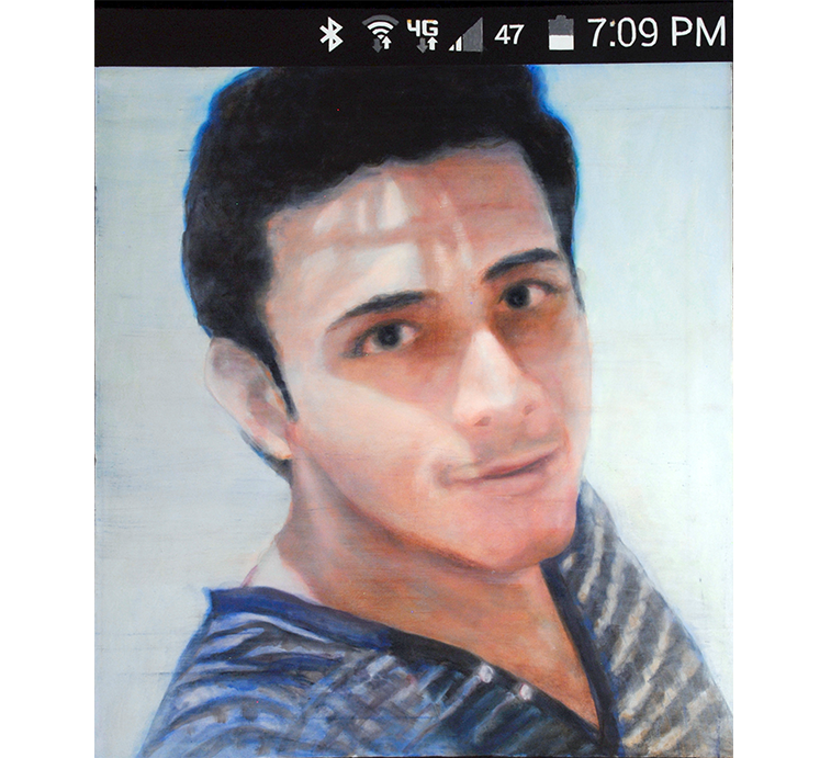 "Selfie: Lalo, Oil on canvas, 24"" x 20"""
