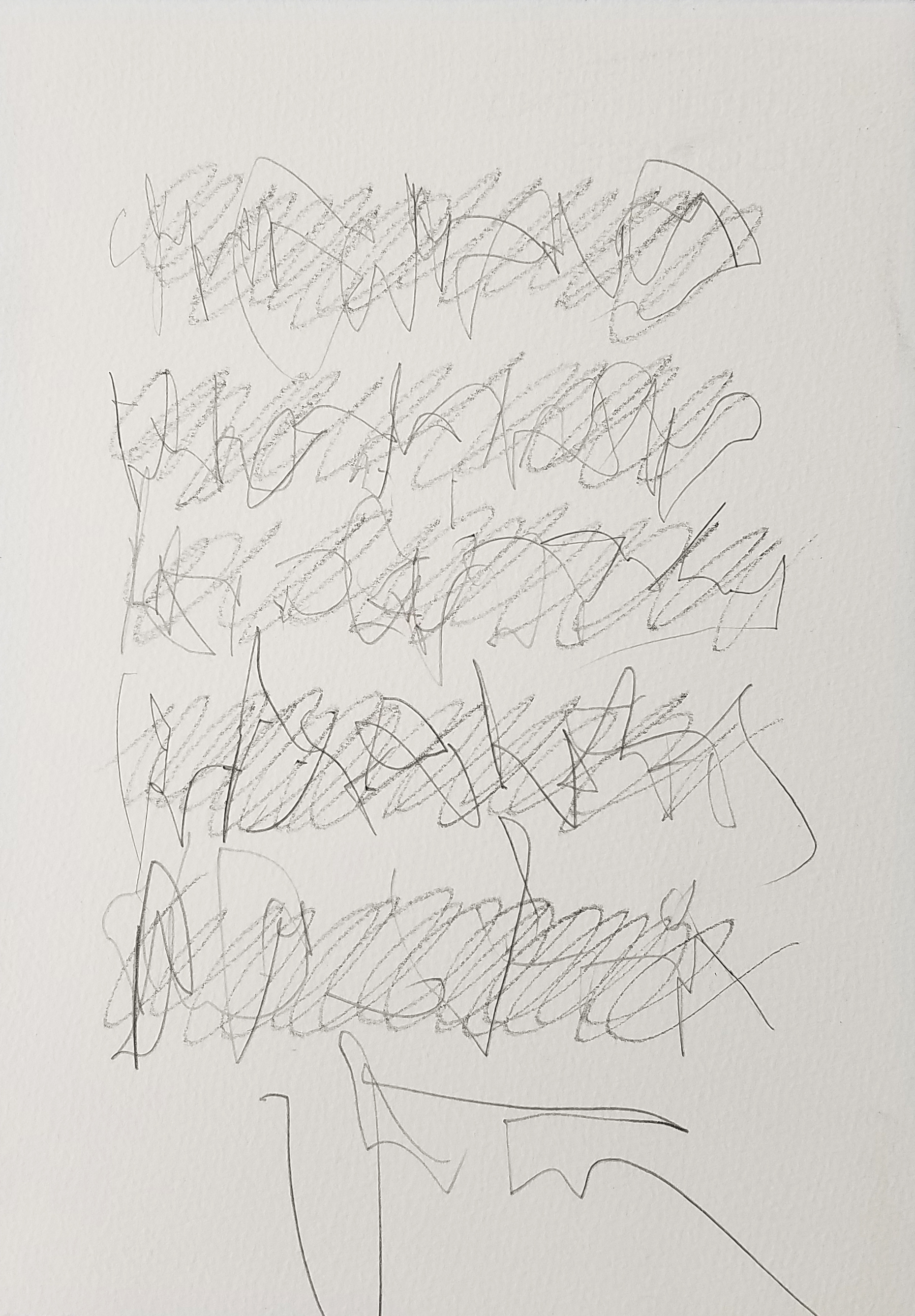 Letter to Andrew #08, Pencil on paper