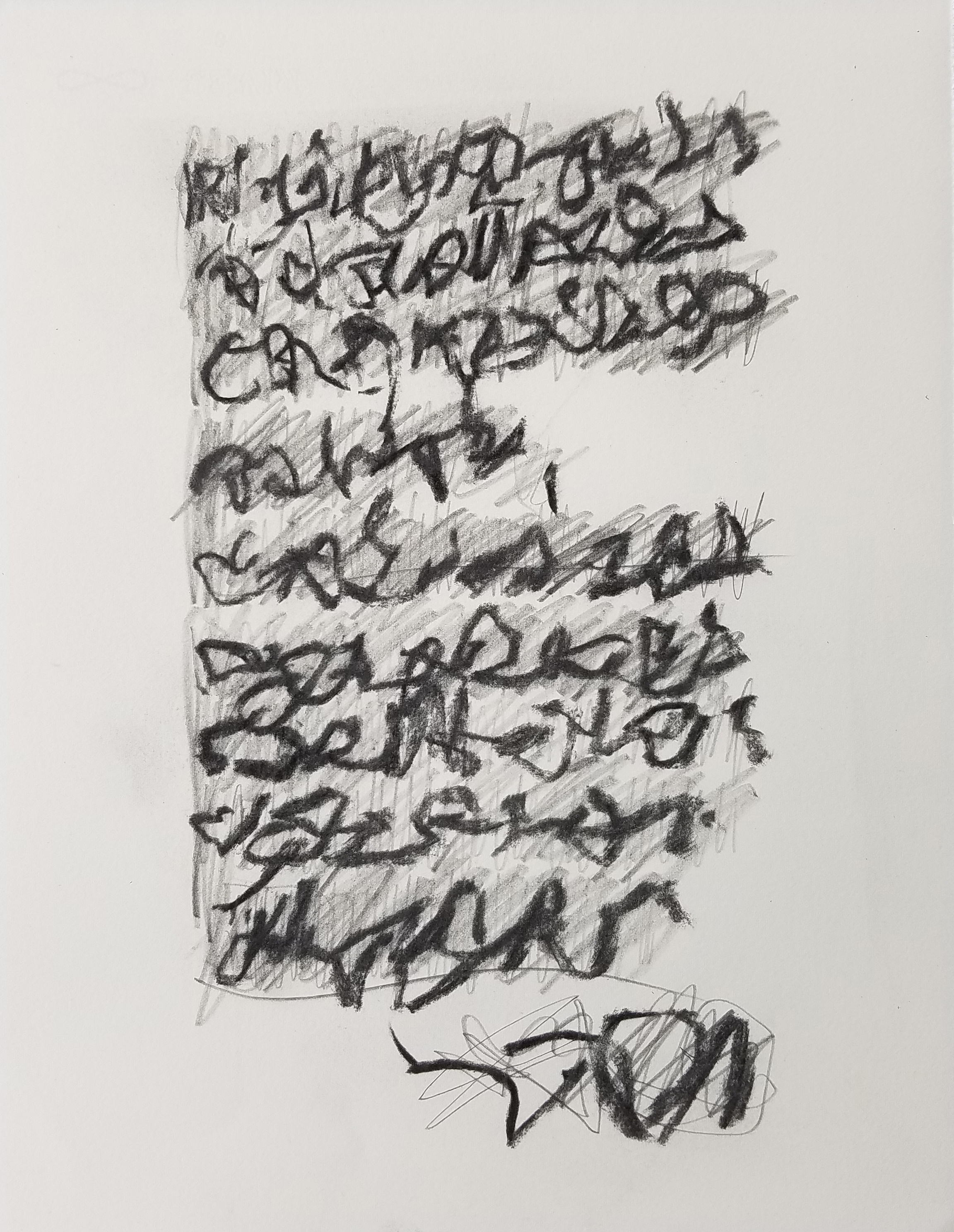 Letter to Andrew #18, Charcoal/pencil on paper
