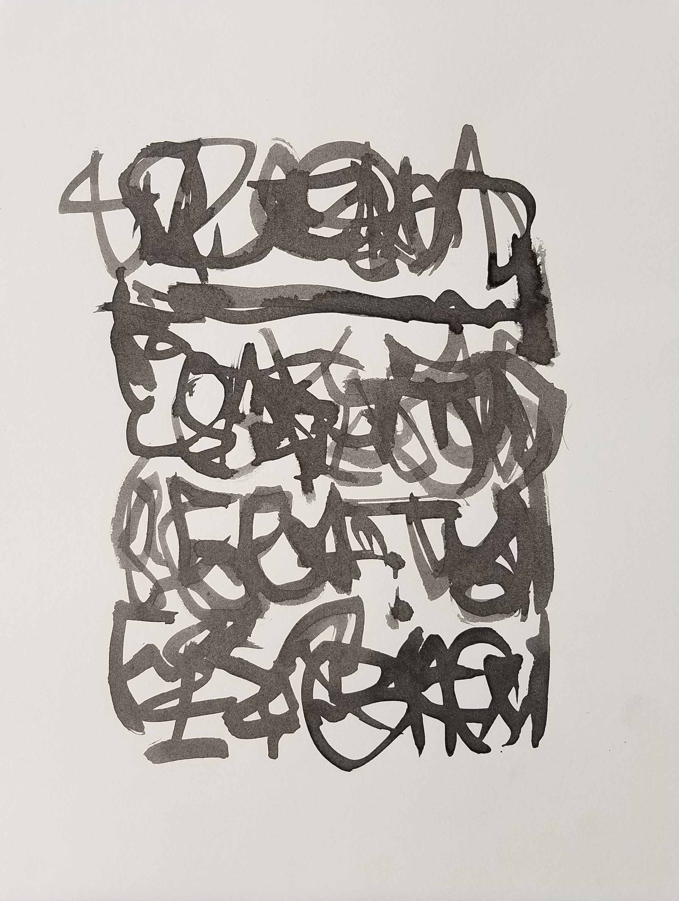 Letter to Andrew #19, Sumi ink on paper