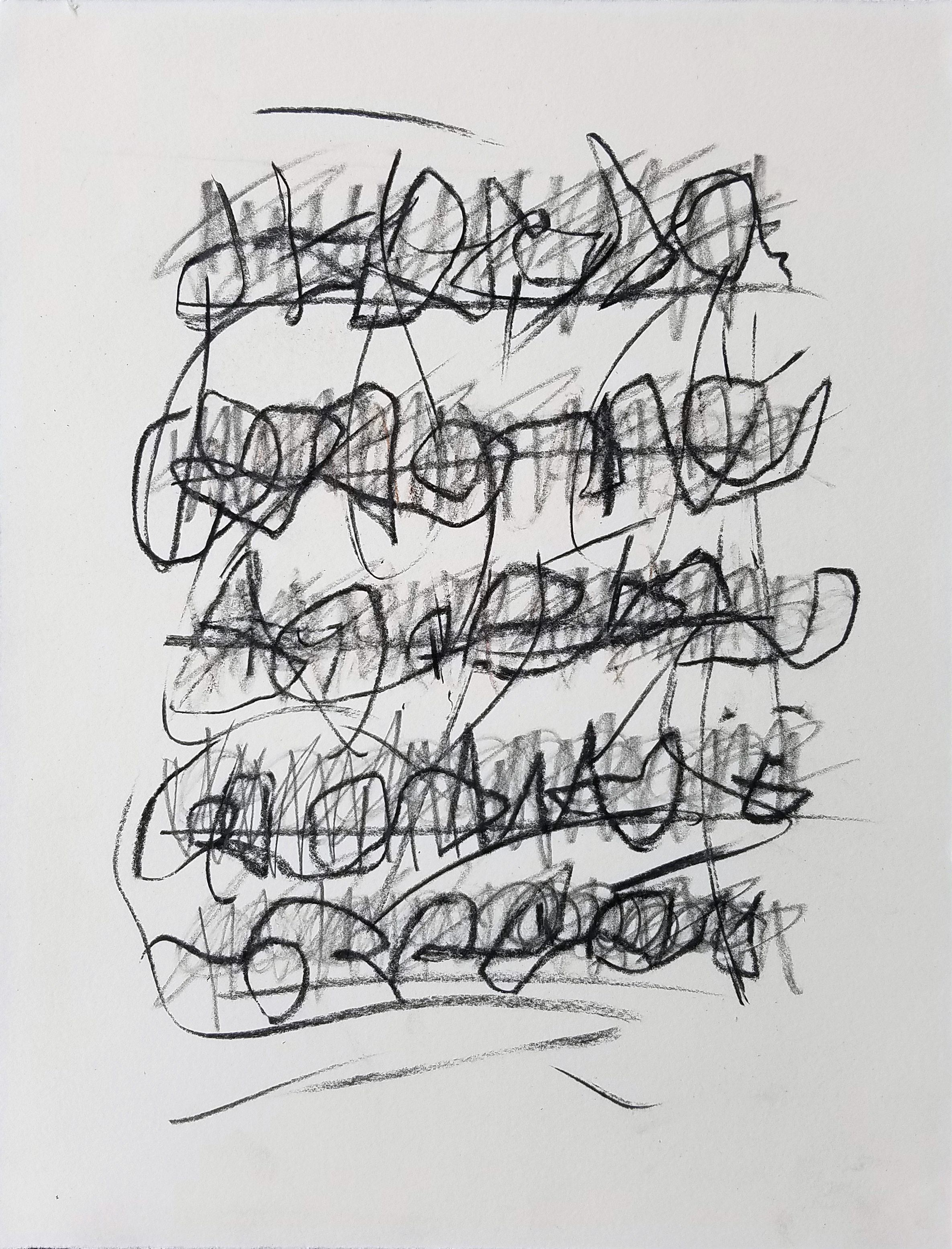 Letter to Andrew #22, Charcoal/ink on paper