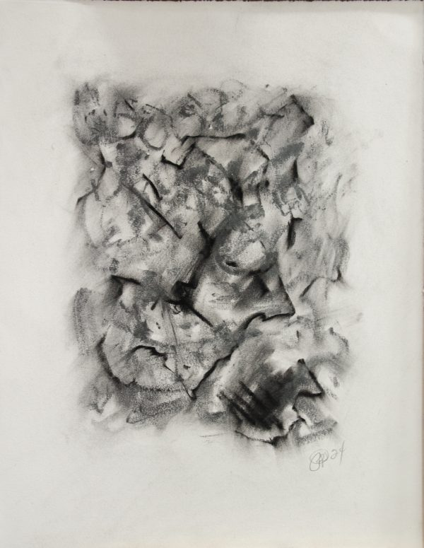 Letter to Andrew #24, Charcoal/chalk on paper