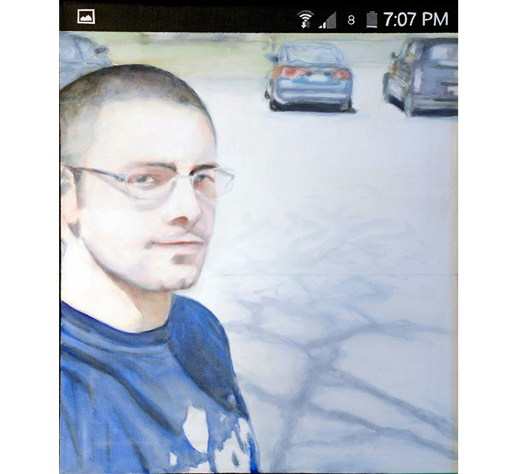 "Selfie: Tom, 24"" x 20"" oil on canvas"
