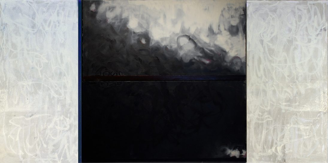 Lament-Elegy for a Lost Future-Oil on canvas48x96 triptych