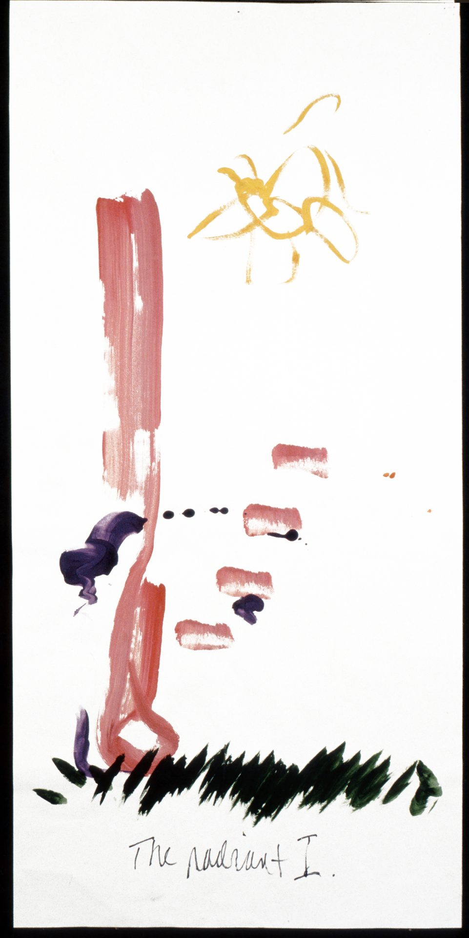 The Radiant I: Paul Edward Pinkman. Tempera on paper.