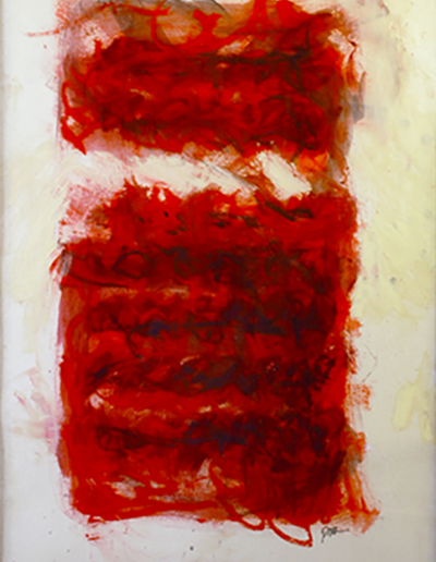 """Canto V, Oil, charcoal on paper, 40"""" x 30"""""""
